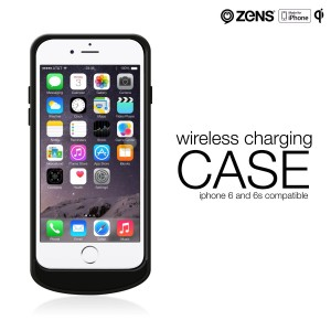 iPhone 6 6s Wireless Charging Receiver Case by ZENS – Enables iPhone to be Charged with Qi Enabled Charger – Slim Design – Apple MFi Certified