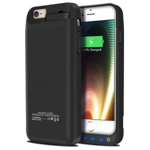 iPhone 6S Battery Case, Ecpow 5800mAh Rechargeable External Battery Case iPhone 6 Power Bank Case Battery Pack Portable Charger Charging Case for iPhone 6 / 6S 4.7'' -Black