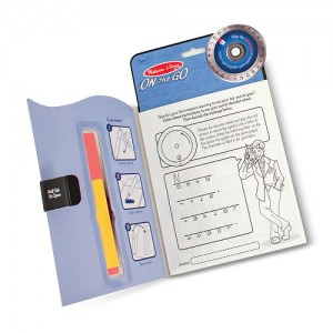 Melissa & Dough On the Go Secret Decoder The Case of the Slippery Flippers Activity Book