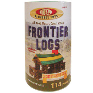 Frontier Logs Building Set in Canister 114-Piece Set