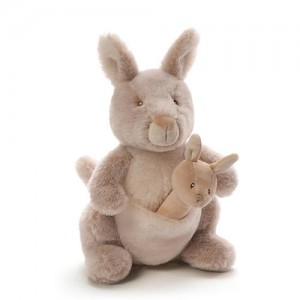 Enesco 11 inch Oh So Soft Kangaroo and Rattle Combo Set