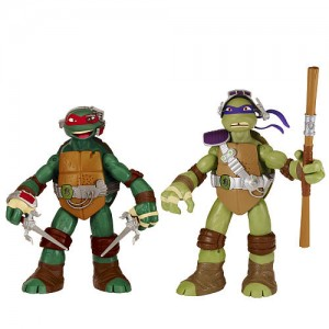 Teenage Mutant Ninja Turtles 11 Inch 2 Pack Interactive Figures - Donatello and Raphael