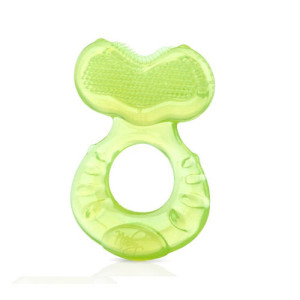 Nuby Step 1 Silicone Teether with Massaging Bristles - Pink