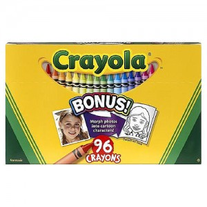 Crayola 96-count Crayons with Built-In Sharpener