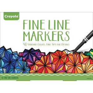 Crayola Adult Coloring Fine Line Markers - 40 Count