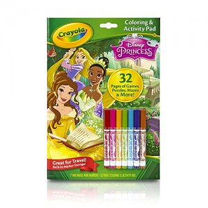 Crayola Disney Princess Coloring and Activity Pad with Markers
