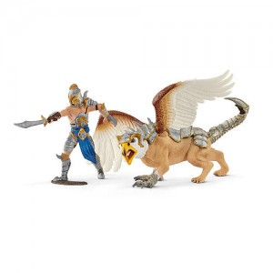 Schleich Warrior with Griffin Figurine