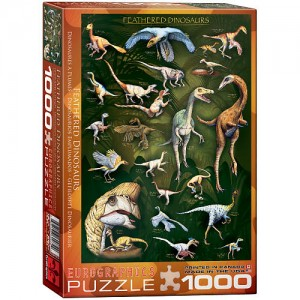 Feathered Dinosaurs Jigsaw Puzzle - 1000-Piece