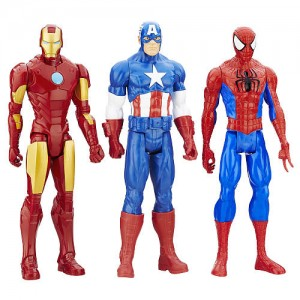 Marvel Titan Hero Series 12 inch Action Figure - Iron Man, Captain America, and Spider-Man