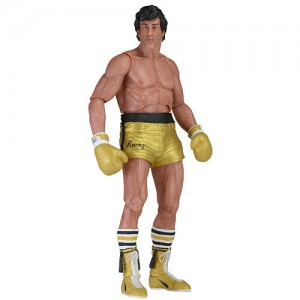 NECA Rocky 40th Anniversary Series 1 7 inch Action Figure -  Rocky Gold Trunks