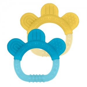 Green Sprouts Sili Paw Teether 2 Pack - Yellow / Blue