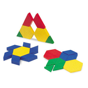 Learning Resources 0.5 Cm Plastic Pattern Blocks, 100 Pieces