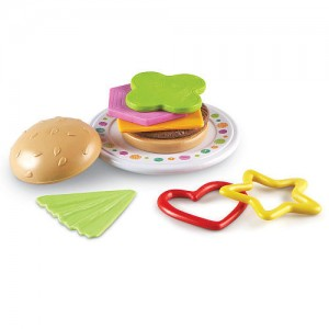 Learning Resources Bright Bites Burger Shapes