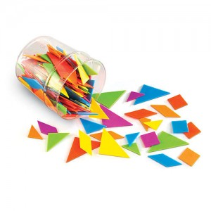 Learning Resources Brights! Tangrams Classpack
