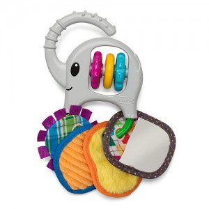 Infantino Linkable Elephant Trunk and Tags Toy