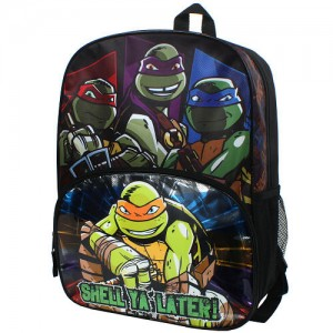 "Teenage Mutant Ninja Turtles ""Shell Ya Later"" 16 inch Backpack with Side Mesh Pockets"