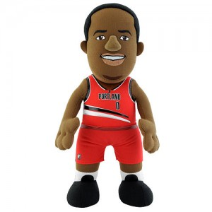 NBA Player 10 Inch Plush Doll Blazers - Damian Lillard (red)