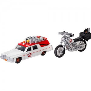 Hot Wheel Ghostbusters 1:64 and 1:50 Scale Diecast Vehicles -  Ecto-1 and Ecto-2