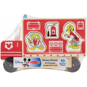 Melissa & Doug Disney Baby Disney Mickey Mouse and Friends Wooden Fire Truck