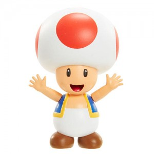 World of Nintendo Super Mario 2-4 Series 2.5 inch Action Figure - Red Toad