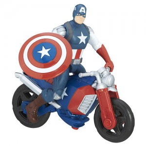 Marvel Avengers 6 inch Action Figure - Captain America with Vehicle