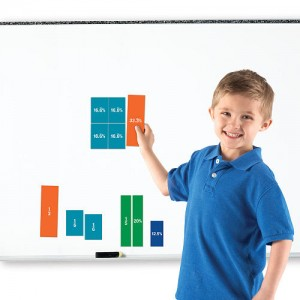 Learning Resources Learning Essentials Double-Sided Magnetic Fraction Squares Set - 51 Piece