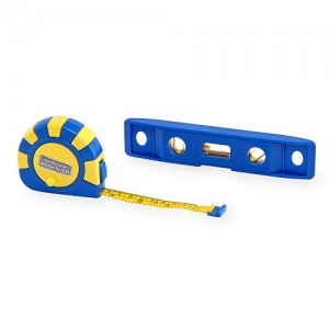 Just Like Home Workshop Tape Measure and Level Set