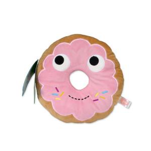"""Kidrobot Yummy World 10 inch Stuffed Figure - Pink Donut """"Yummy"""""""