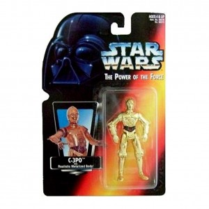 Kenner starwars The Power Of The Force (c-3po Realistic Metalized Body!)