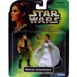 Star Wars Collection Year 1997 Princess Leia and Luke Skywalker Action Figures