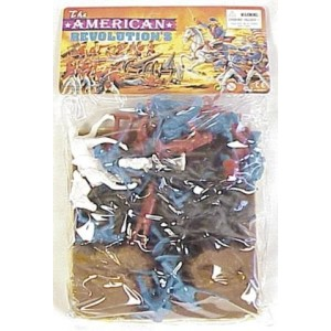 54mm Revolutionary War Embankment and Figure Playset (Bagged) by Americana Souvenirs