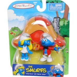 """The Smurfs 2"""" Figure Pack - Smurfette and Painter Smurf"""