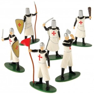 U.S. Toy 12 DELUXE TOY KNIGHT MEDIEVAL - CRUSADER PLAY FIGURES