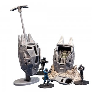 McFarlane Toys Halo Micro Ops Series 1: Odst Drop Pads (Includes 2 with Debris Base, Drag Chute and Buck)