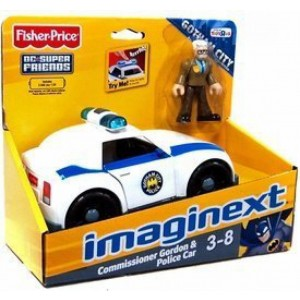 Fisher-Price Imaginext Exclusive DC Super Friends Gotham City Collection Vehicle and Minifigure. Commissioner Gordon and Gotham City Police Car