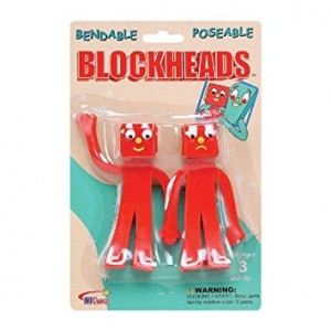 NJ Croce Gumby Blockheads G and J Bendable Figure Pair