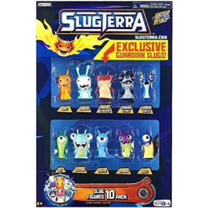 Slugterra, Exclusive Mini Slug 10-Pack (Includes 3 Guardian Slugs: Bludgeon, Stinky, and Joules)