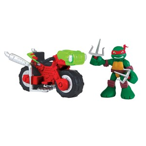 Teenage Mutant Ninja Turtles Pre-Cool Half Shell Heroes Raphael with Mini Cycle Figure Set (Discontinued by manufacturer)