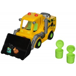 The Trash Pack Series Playset Toy The Trash Pack Load n Launch Bulldozer Toy Set with 2 Gang Trashies