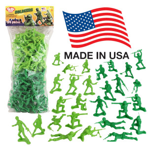 Tim Mee TimMee PLASTIC ARMY MEN: Green vs Green 96pc Soldier Figures Made in USA