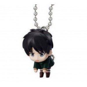 Bandai Attack on Titan Tsumande Tsunagete Mascot Part 2~Figure Swing Keychain~Eren Yeager