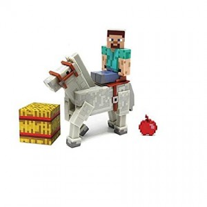 Jazwares Minecraft 2Pack Figures Steve with White Horse