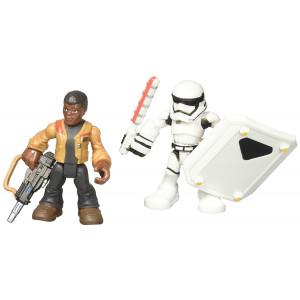 Playskool Heroes Galactic Heroes Star Wars Resistance Finn (Jakku) and First Order Stormtrooper