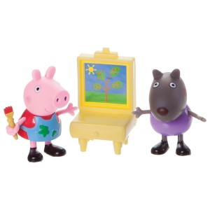 Peppa Pig Peppa and Danny Dog Painting Action Figure