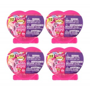 Hasbro Set of 4 My Little Pony Suprise Fashems Squishy Pops - Heart shaped Capsules - Special Edition (Series 2)