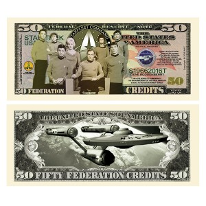 American Art Classics Limited Edition Star Trek 50th Fifty Year Anniversary Collectible Bill in Currency Holder