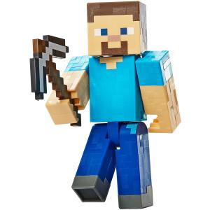 Mattel Minecraft Basic Action Figure, Steve with Pickaxe