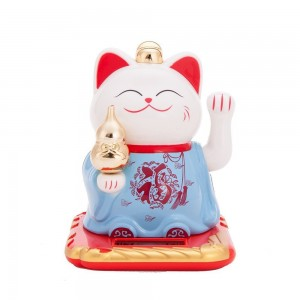THY COLLECTIBLES Solar Powered Bobblehead Toy Figure Nohohon, Lucky Cat 066