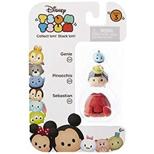 "Disney Tsum Tsum Series 3 Genie, Pinocchio and Sebastian 1"" Minifigure 3-Pack #325, 305 and 163"