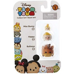 "Disney Tsum Tsum Series 3 Miss Bunny, Happy and Bullseye 1"" Minifigure 3-Pack #310, 205 and 342"